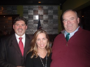 MA Democratic State Committee Chair John Walsh, with his wife Donna and candidate Don Bourque